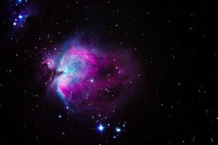 Predawn M42 with oversaturation for artistic effect 9/17