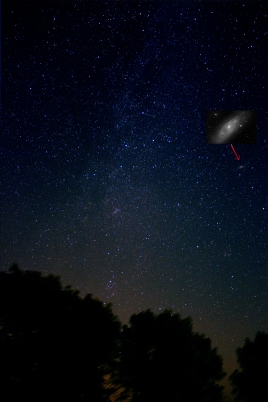 Milky Way, Away from the core with Andromeda inset - 9/17