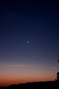 Venus and Mercury just before sunrise
