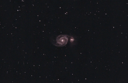About 2hrs of M51. Getting there.